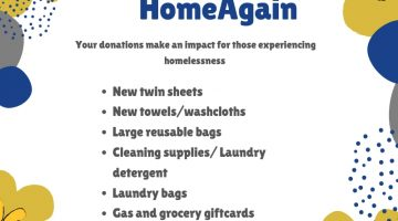 Home Again Richmond Spring Donation Flyer